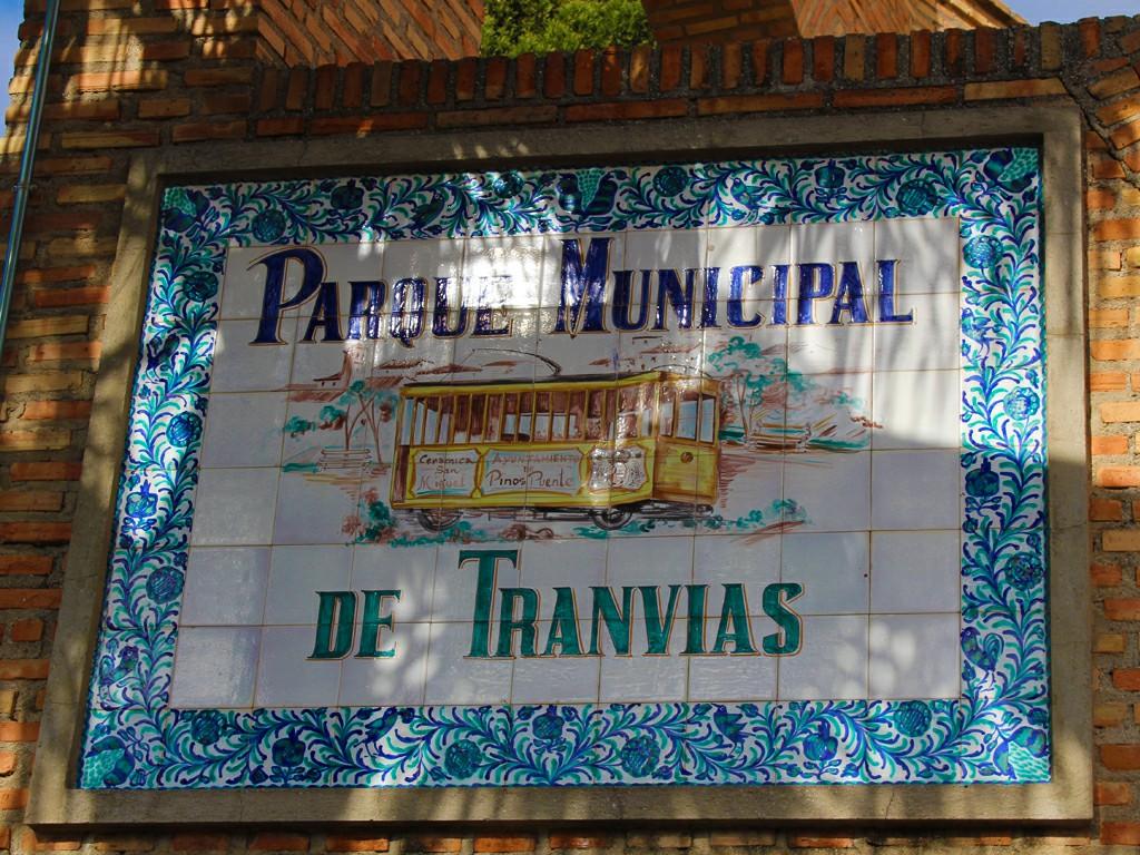 Mosaico del Parque del Tranvías de Pinos Puente